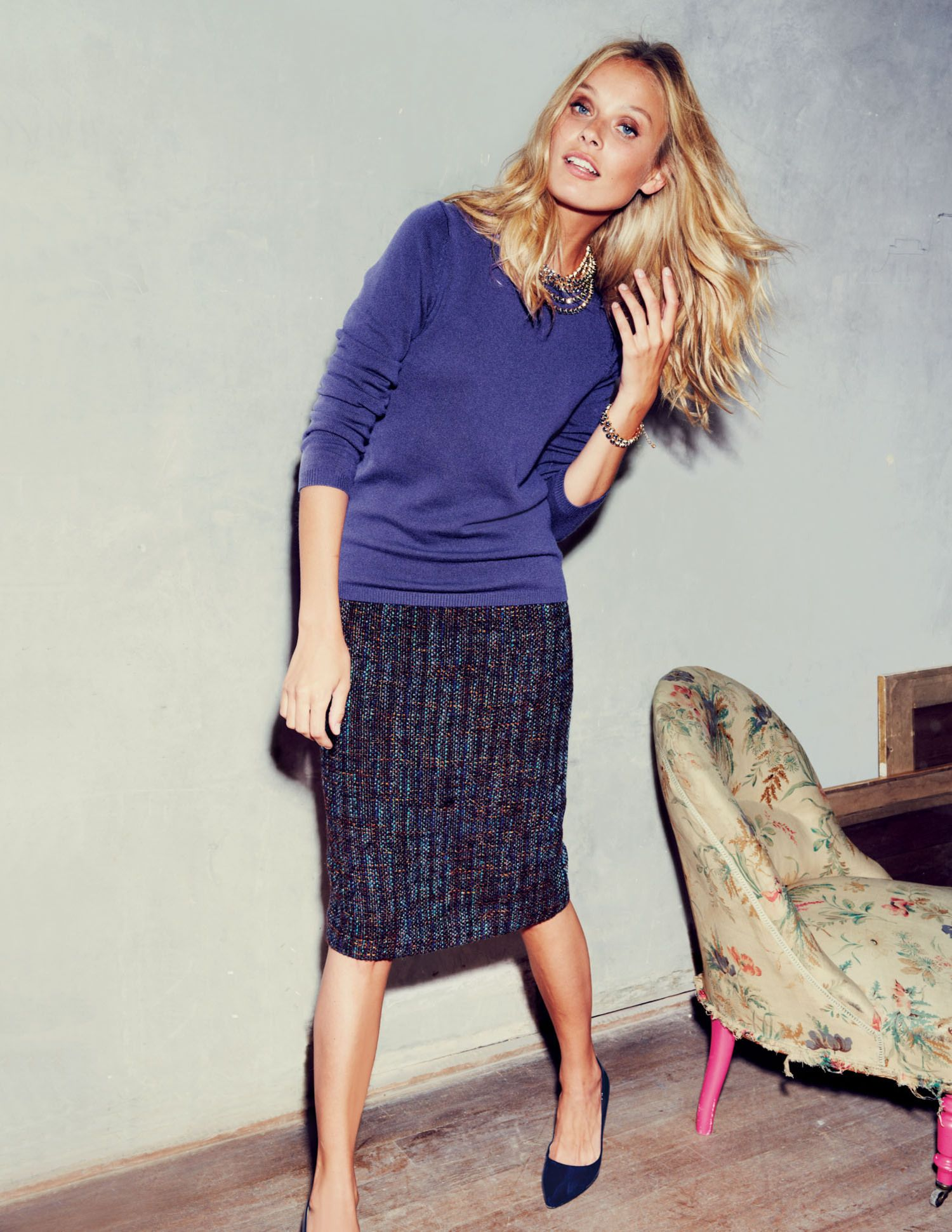 Notre Dame Skirt WG511 Mid Length Skirts at Boden | Workin\' for a ...