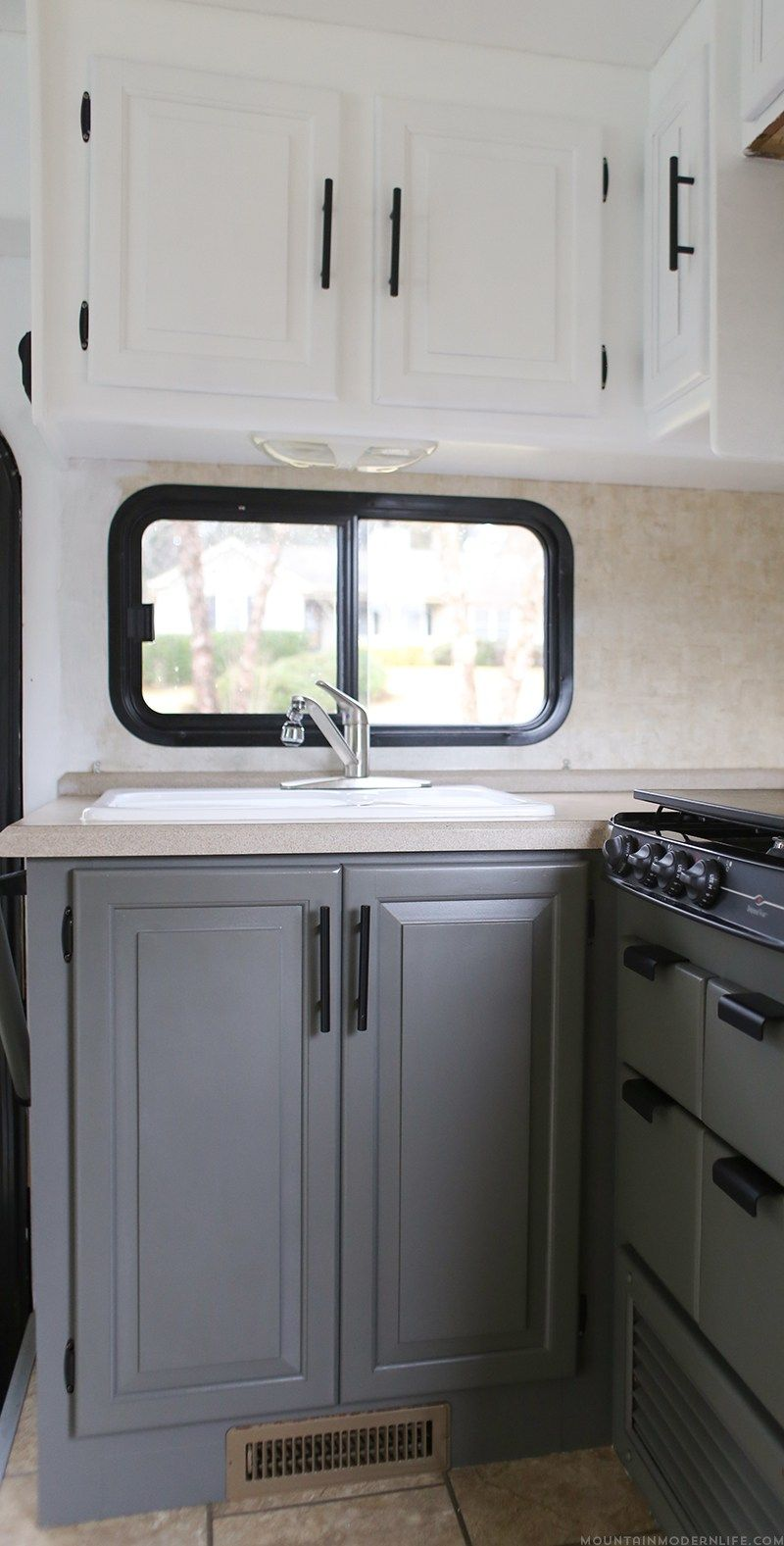 The Progress Of Our Rv Kitchen Cabinets Rv Life Remodeled
