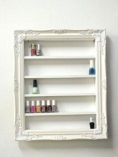 ranger ses vernis dans un tableau tag res acheter tout fait dans un magasin de d co ou. Black Bedroom Furniture Sets. Home Design Ideas