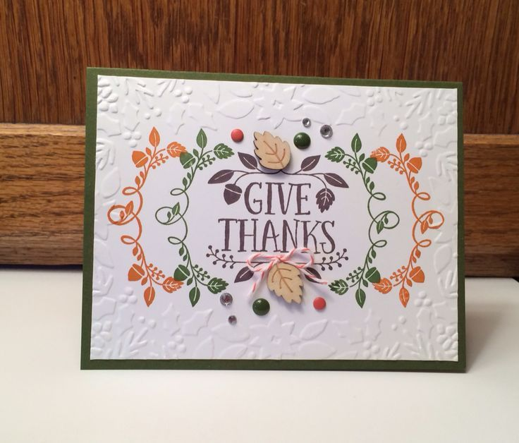 Thanksgiving Card Making Ideas Part - 24: Image Result For Stampin Up Thanksgiving Cards