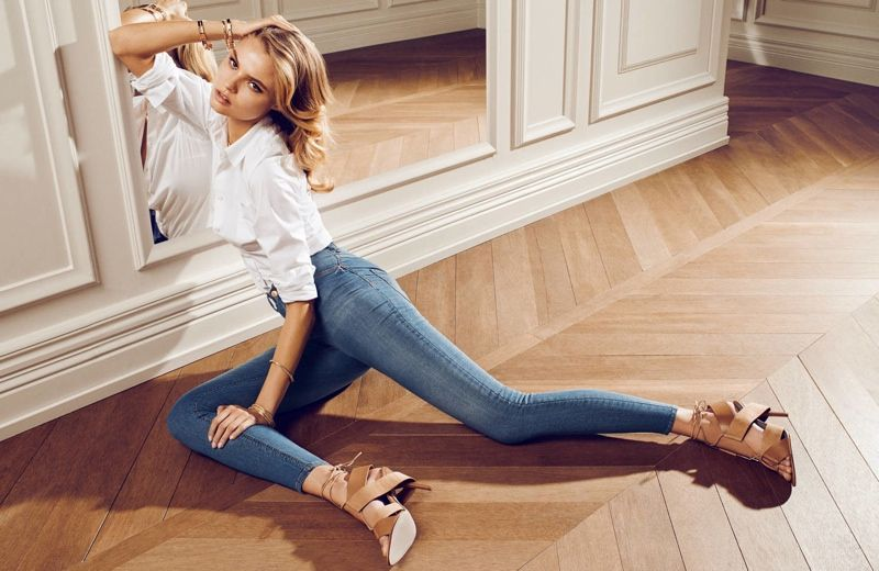 magdalena gina tricot4 Magdalena Frackowiak Dons Denim for Gina Tricot by Hasse Nielsen
