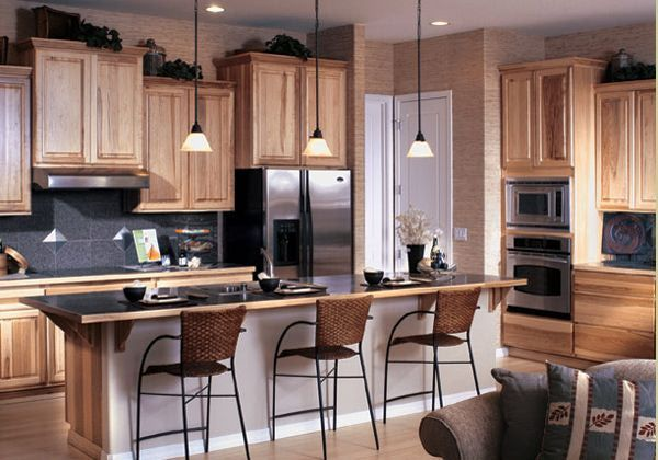 20 Spectacular Small Kitchen Designs  Hickory Kitchen Cabinets Endearing Design Kitchen Cabinets For Small Kitchen Design Ideas