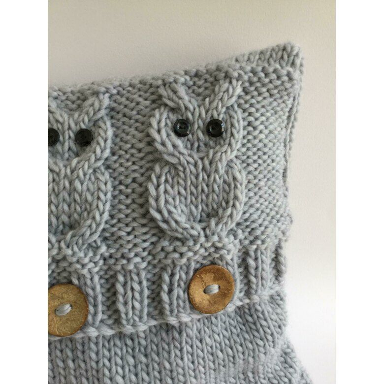 3 Wise Owls Cushion Cover