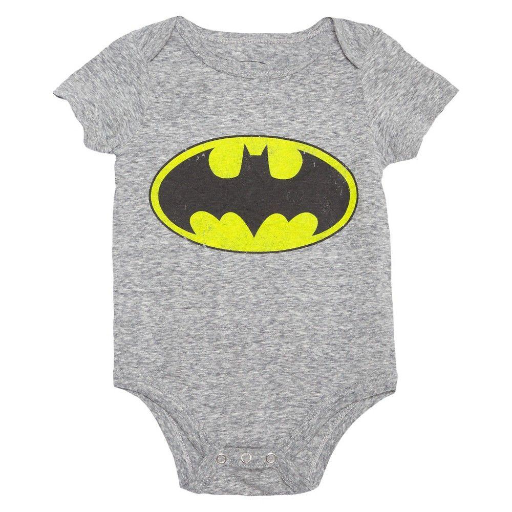0dc653e9 Baby Boys' Batman Bodysuit Grey 12M - DC Comics, Infant Boy's, Size: 12  Months, Grey Skies