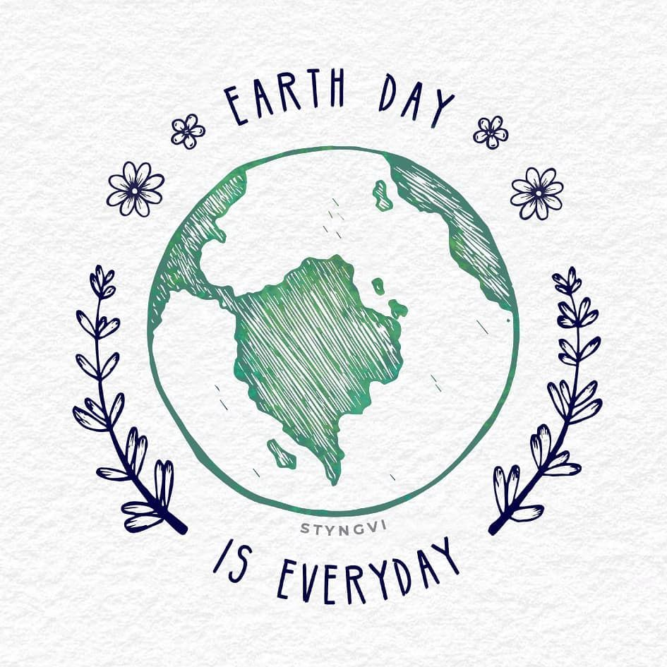 """Stefán ▫ A vegan artivist on Instagram: """"Today is Earth Day! 🌍 The theme  for Earth Day 2019 is 'Protect Our Sp… in 2021   Earth drawings, Vinyl  record art ideas, Earth day"""