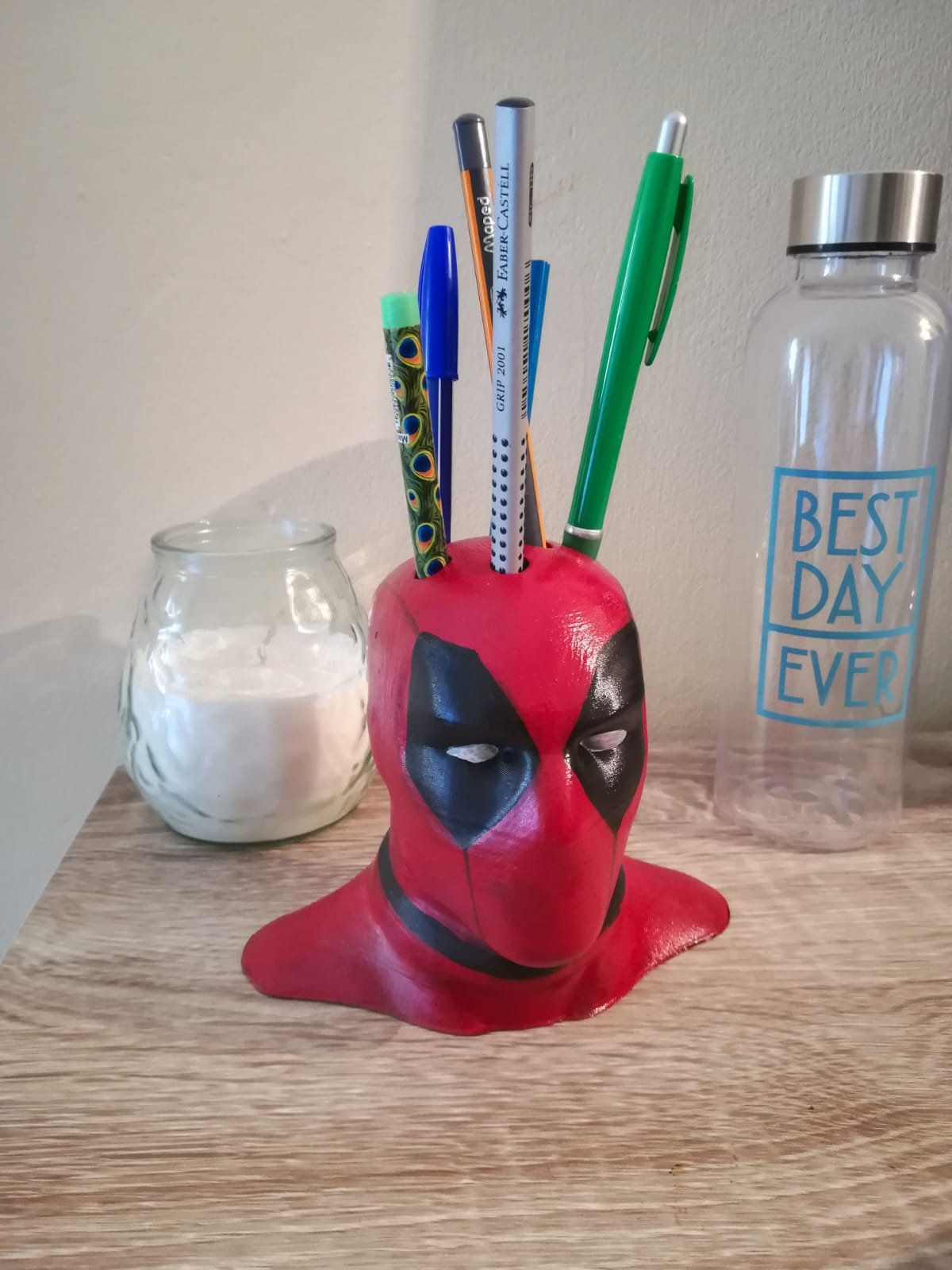 Deadpool Pen And Pencil Holder Desk Organizer In 2020 3d
