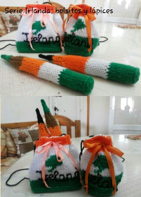 "Bolsitos y lápices serie ""Irlanda"""