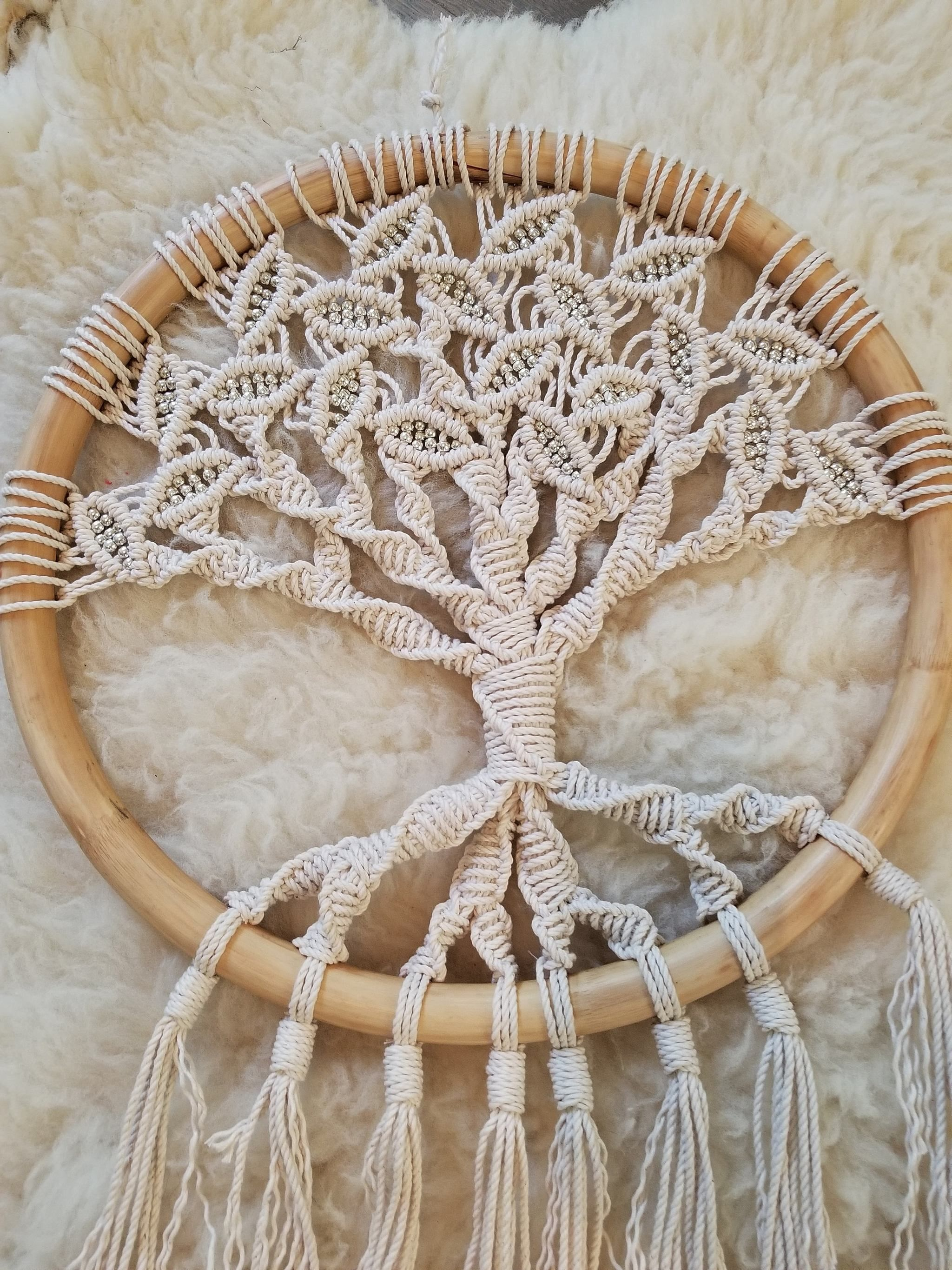 tree of life macrame wall hanging en 2018 favs pinterest macram attrape et capteurs de r ves. Black Bedroom Furniture Sets. Home Design Ideas