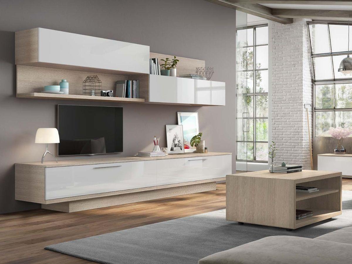 Comedor moderno art con frentes lacados en blanco alto - Muebles de salon lacados en blanco ...