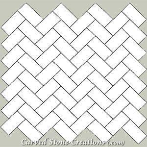 4x8 White Matte Tiles Herringbone Pattern Floor Google