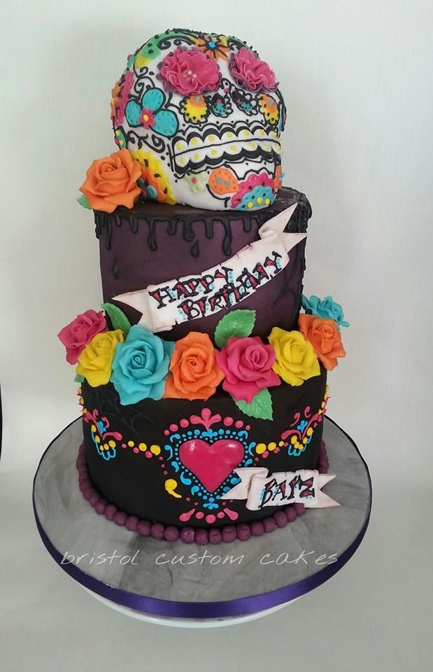Incredible Day of the Dead cake. | cakes | Day of the dead cake ...