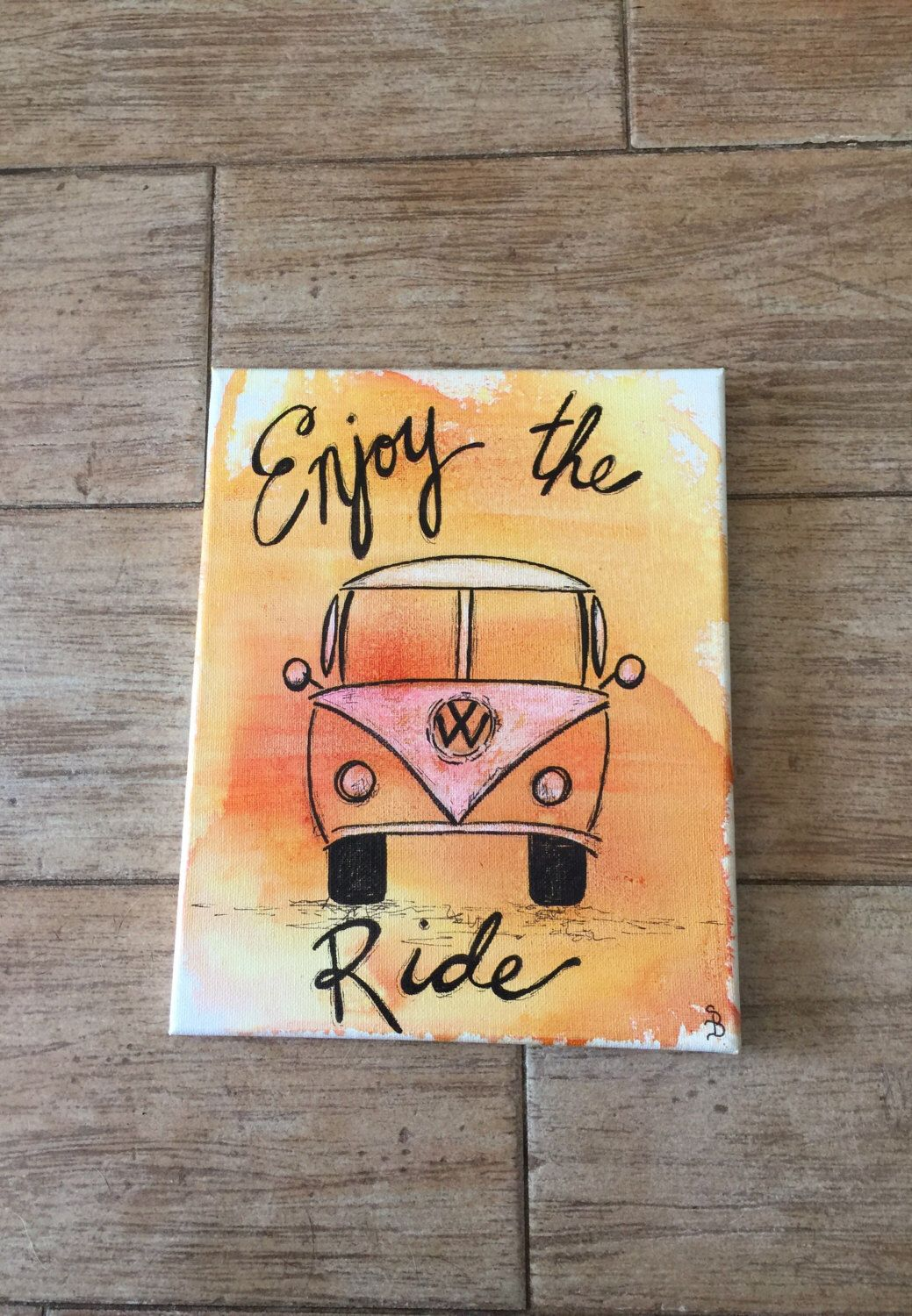 A Personal Favorite From My Etsy Https Www Listing 475700214 Vw Bus Decor Enjoy The Ride Wall Art