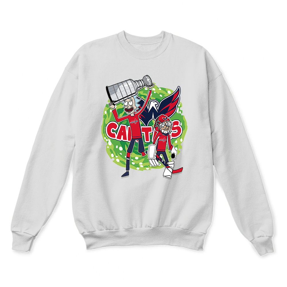 f6b745788 NHL Washington Capitals Stanley Cup Rick And Morty Crewneck Sweatshirt