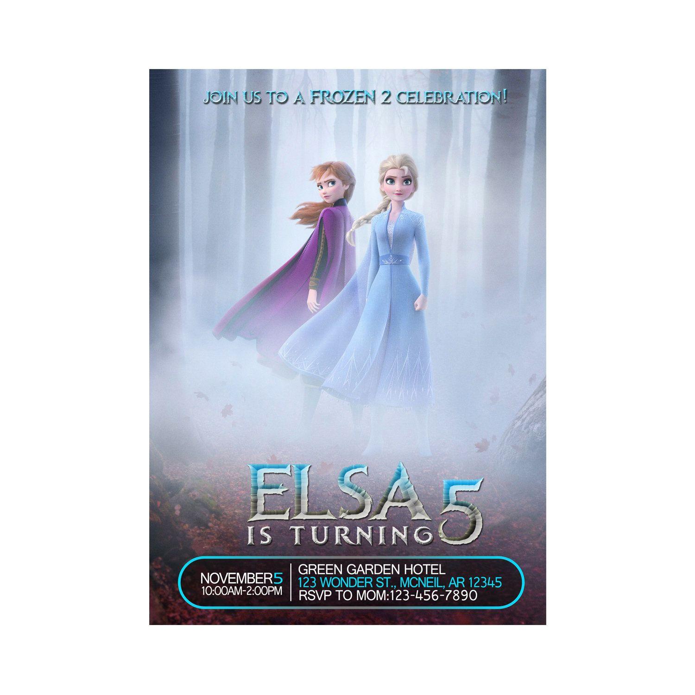 Frozen 2 Invitation Frozen 2 Birthday Invitation Frozen 2