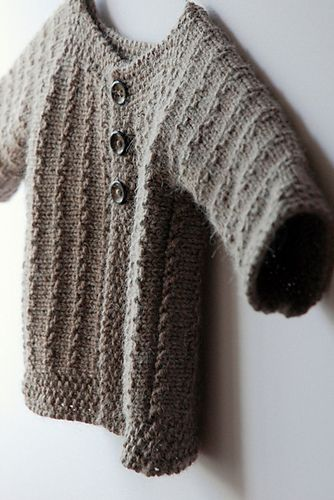 Perfect Baby Cardigan Knitted In One Piece Demne Pattern Free