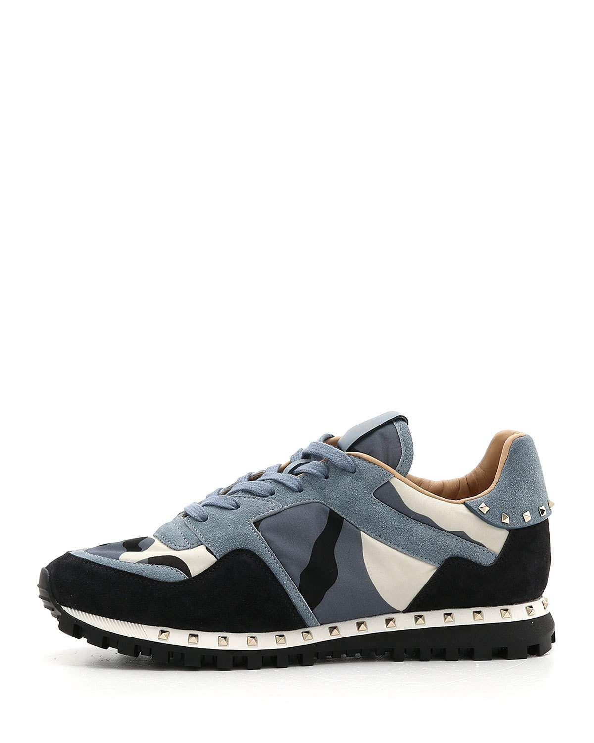 1745a61136206 VALENTINO MEN S ROCKRUNNER CAMO LEATHER SNEAKERS