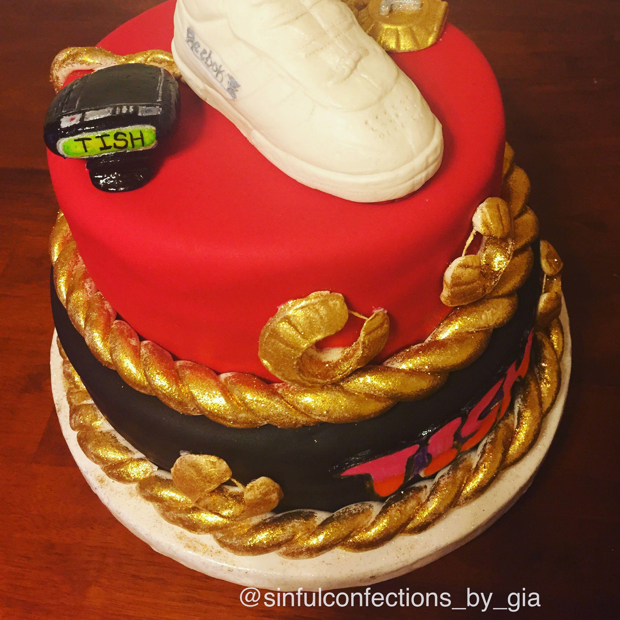 Dope, Fly, Fresh E #90s #custom #cake #