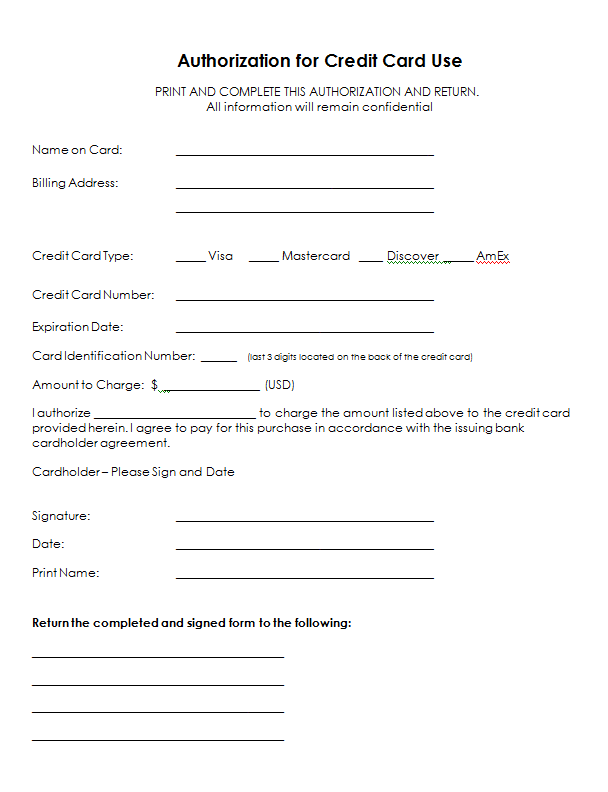 Credit Card Info Form  Google Search  Sja    Form