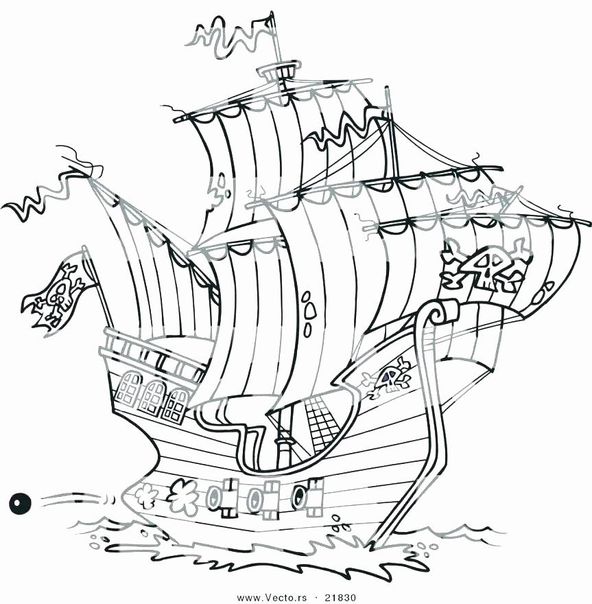 Pirate Ship Coloring Page Fresh Pirate Ship Drawing for