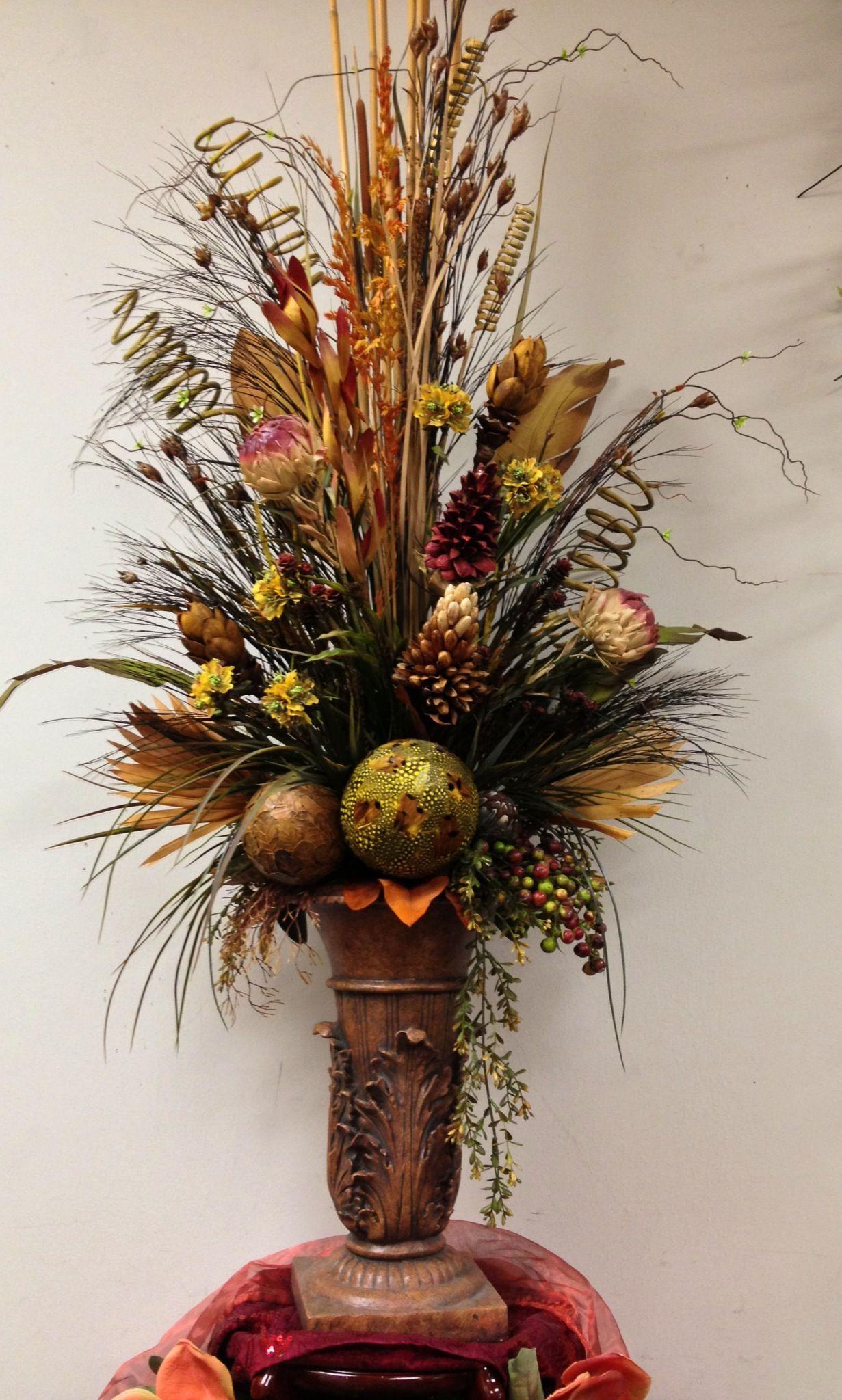 id es composition florale dried floral arrangement florals pinterest deco table. Black Bedroom Furniture Sets. Home Design Ideas