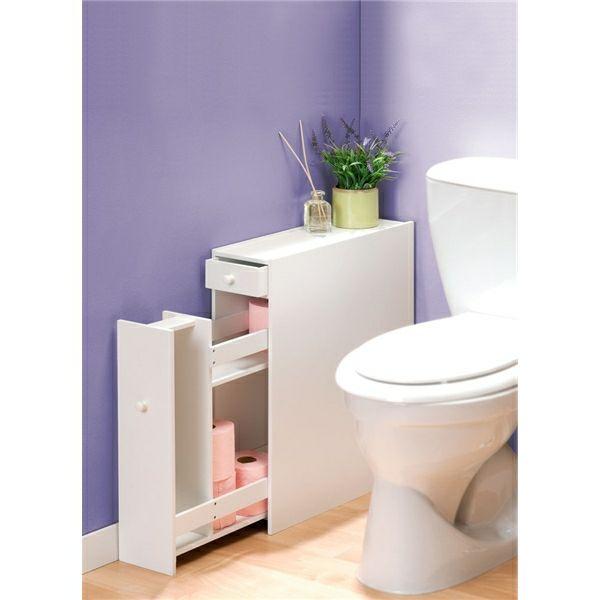 meuble toilette rangement wc