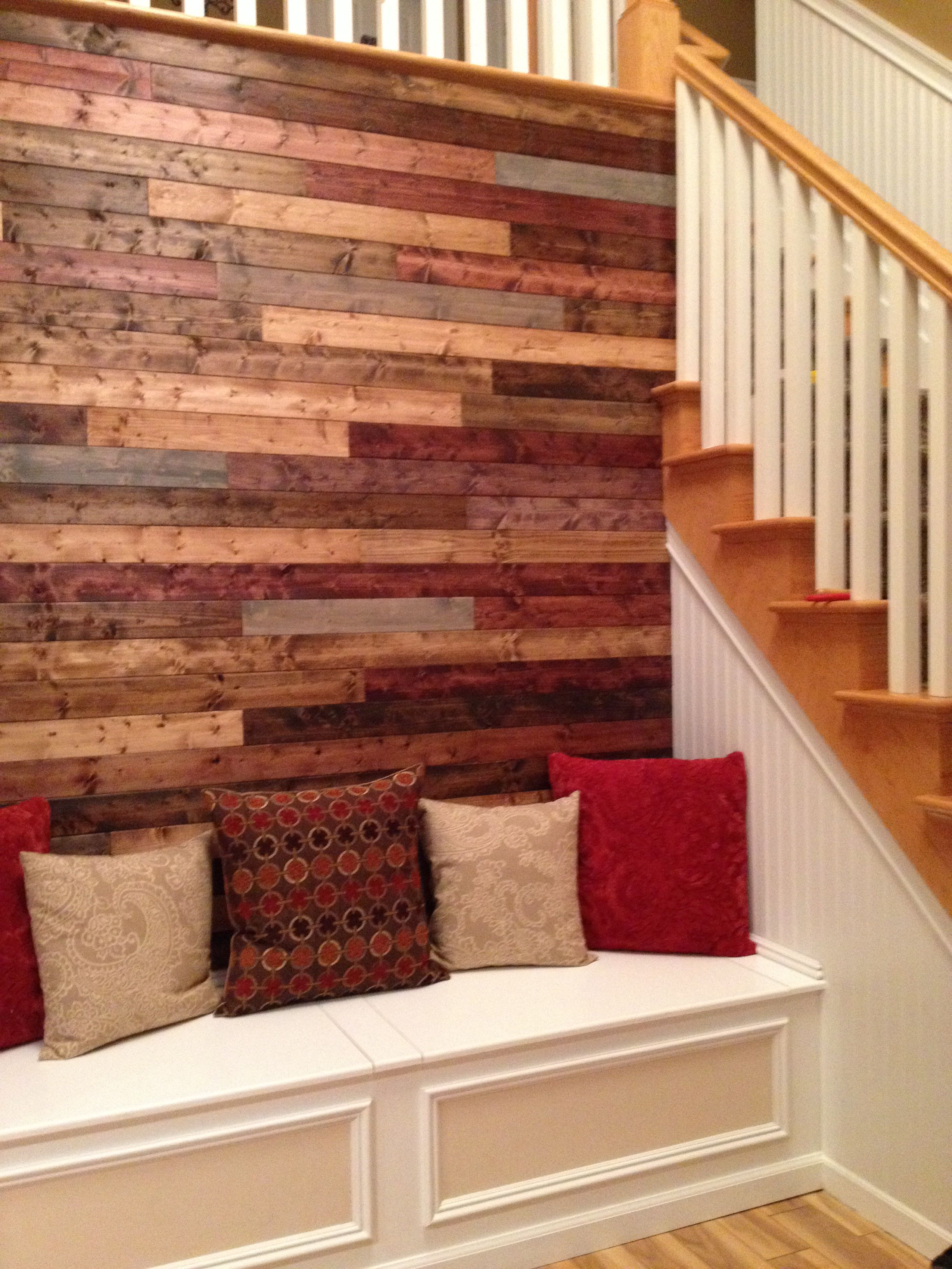 Stained Wood Wall Staining Wood Wooden Wall Design Wood Accent Wall