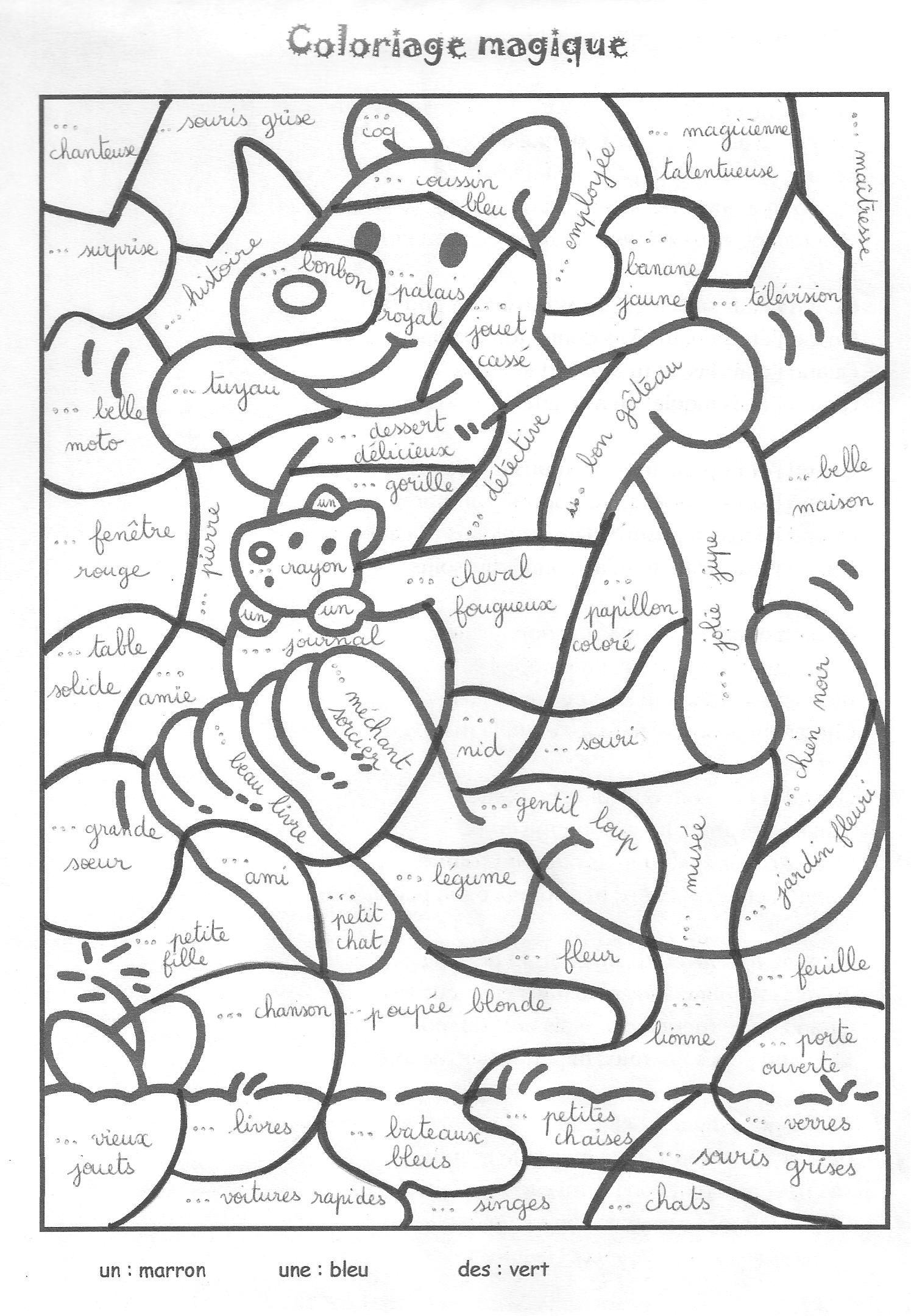 Coloriage Magique Kangourou.Epingle Par Ibtihaj Sur Jeux De Mots Games French Worksheets