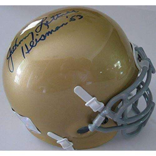 Johnny Lattner, Notre Dame Fighting Irish, 1953 Heisman Trophy Winner, Signed, Autographed, Mini Helmet, A COA Will Be Included