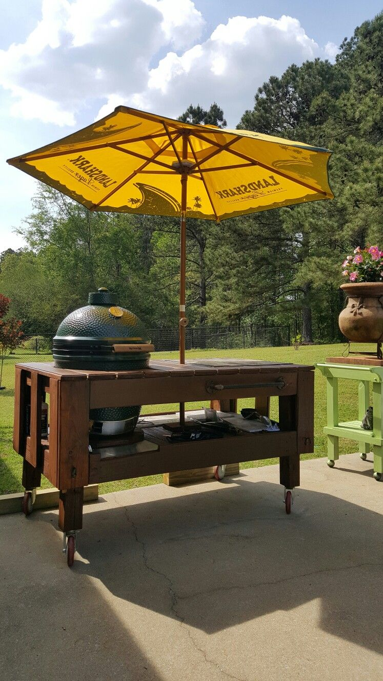 big green egg table 63 w 37 d 34 h i built it u003c175 00 they are rh pinterest com