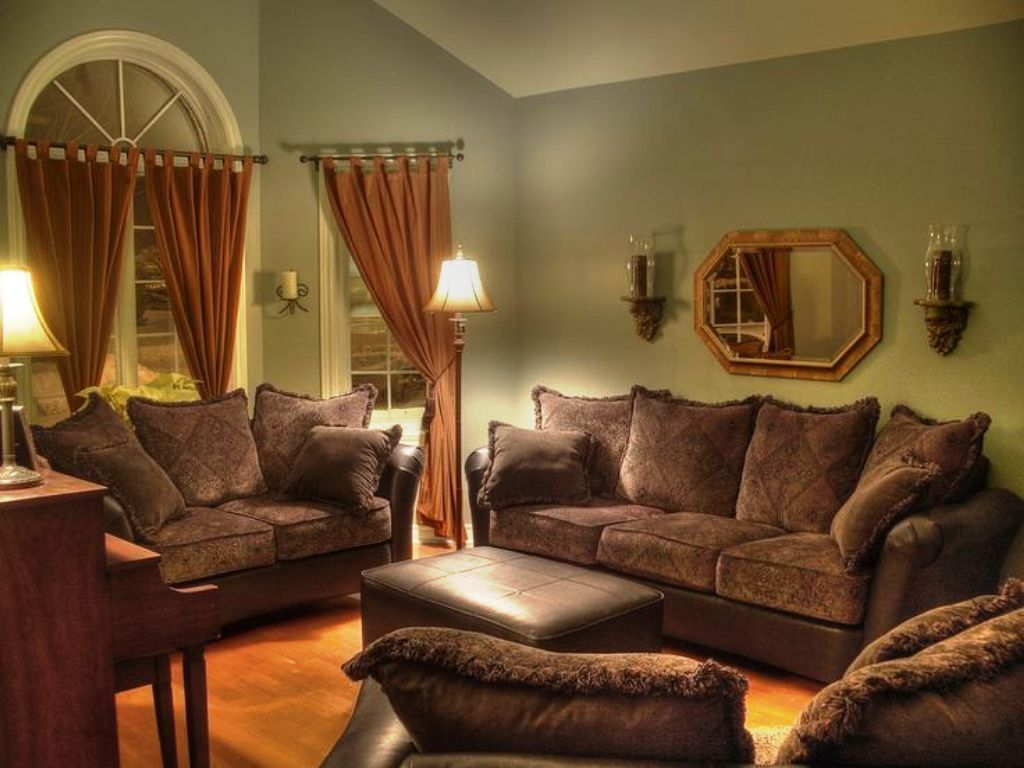 living room color schemes brown couch  brown leather sofa