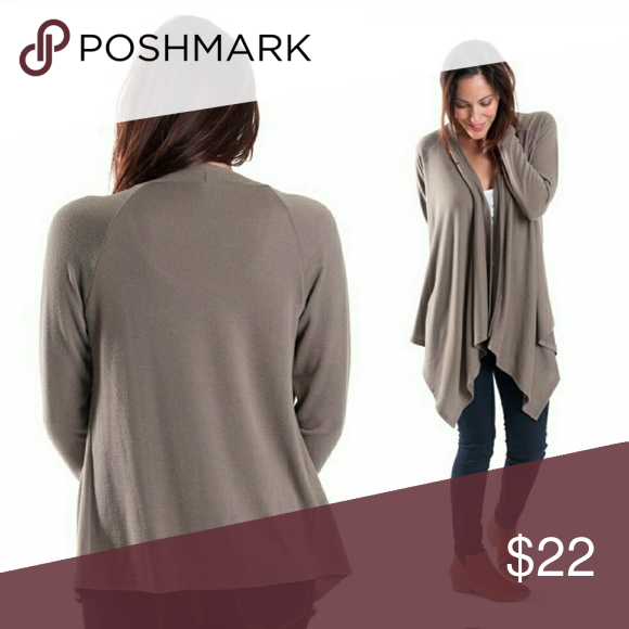 Neutral sweater, Taupe high low cardigan sweater Boutique | High ...