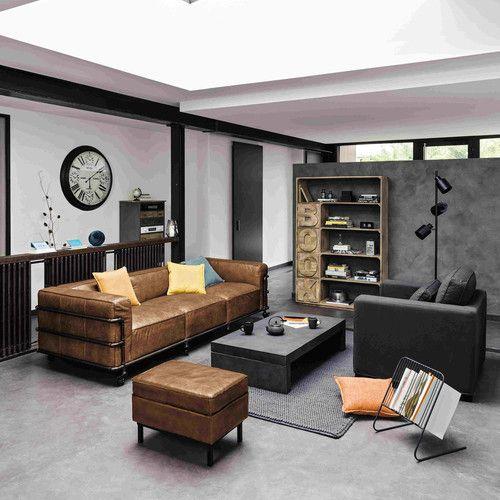 Sofa 4 Sitzer Leder vintage sofa 4 sitzer aus leder havannafarben room