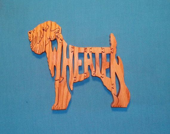 Trigo Terrier perro raza madera Sierra por huebysscrollsawart