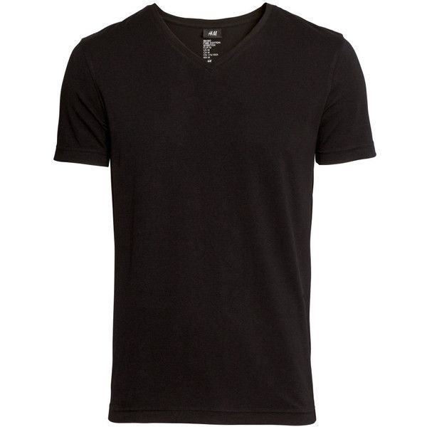 Stretch T-shirt $9.99 (€9,40) ❤ liked on Polyvore featuring tops, t-shirts, men, shirts, boys, h&m shirts, white v neck shirt, v-neck shirt, v-neck tee and v neck shirt