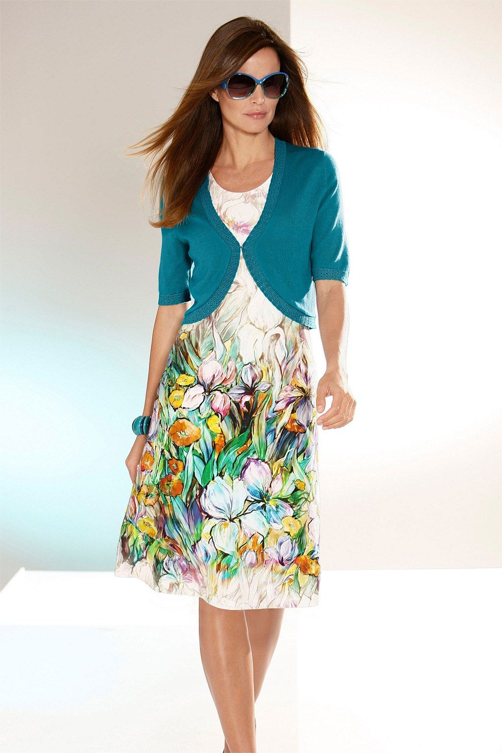 Day Sun Dress - Dresses - Capture European Floral Dress - EziBuy Australia