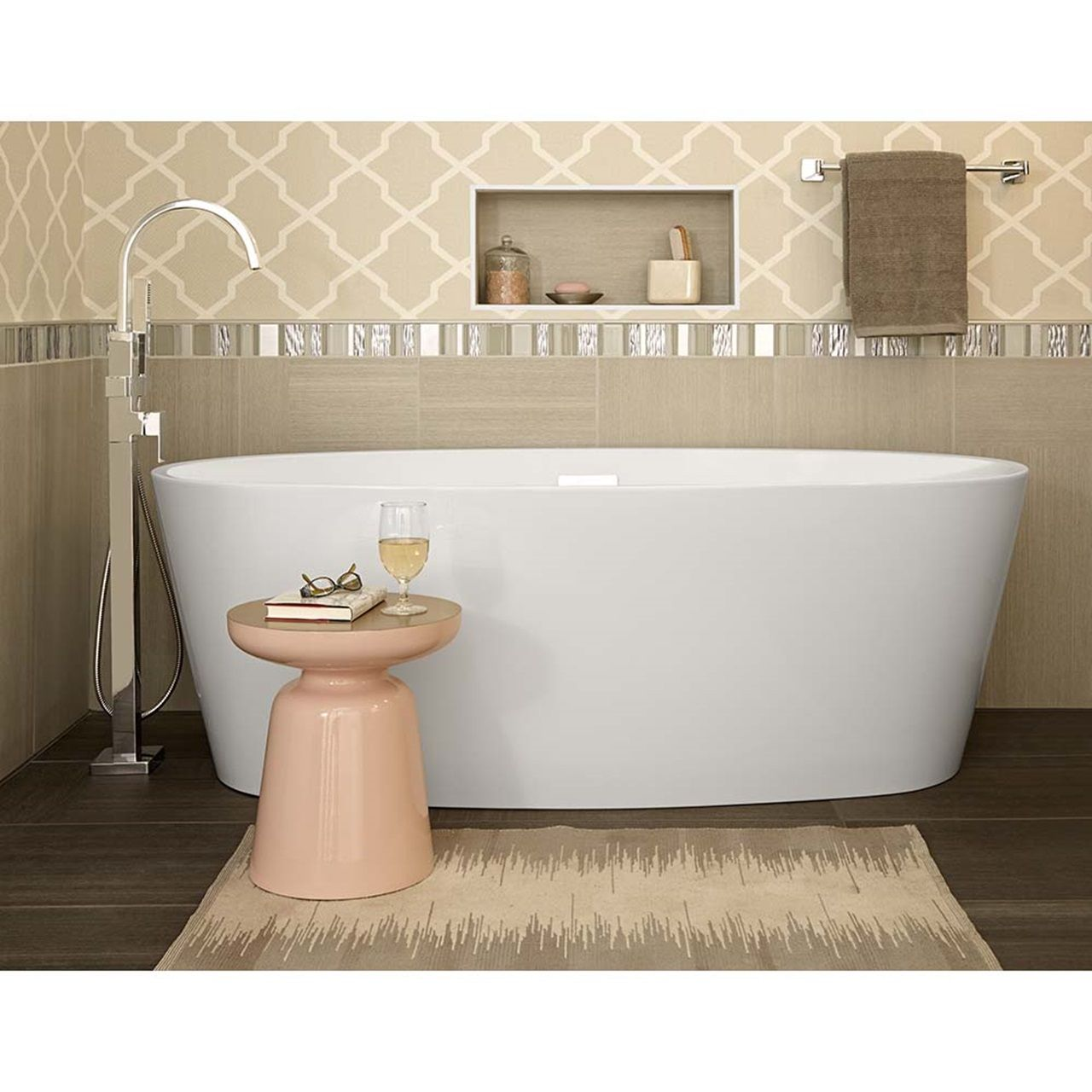 Coastal Serin Freestanding Soaker Tub American Standard With