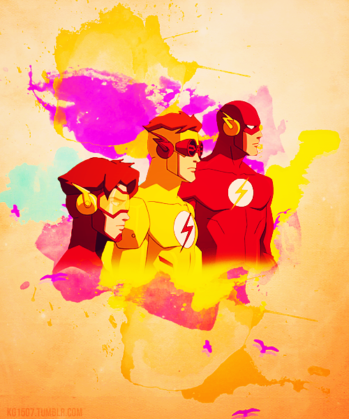 Young Justice Impulse, Kid Flash and The Flash