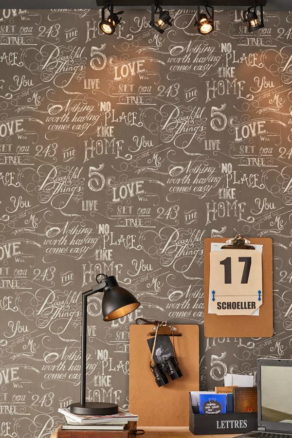 un papier peint au style atelier