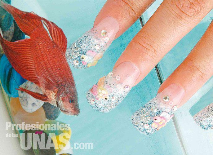 Diseño Uñas (nails): Belleza bajo el mar que se traslada a las uñas ...