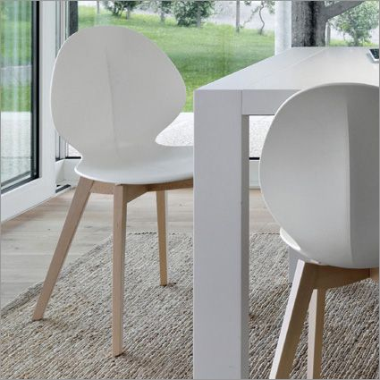 Calligaris Basil Cs 1348 Contemporary Dining Chairs Modern Dining Chairs Wood Chair