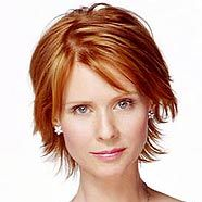 Miranda Hobbes (SATC character played by natural blond, Cynthia Nixon)