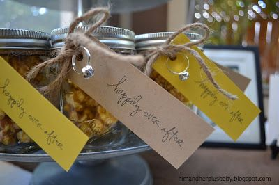 Cute favors from a rustic glam bridal shower