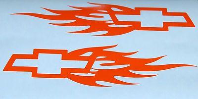 Chevrolet SILVERADO Chevy Bowtie 2X Sticker Decals Graphics Bow tie Decal