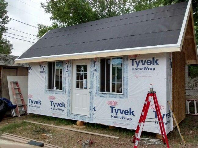 Vapor Barrier Application Home Construction Tiny House Outdoor Decor