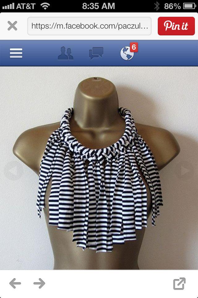 Beautifully designed t-shirt necklace!