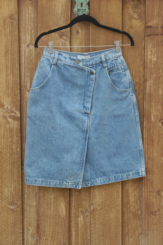 df649c5a1ba85 Reserved for Chris - - Denim Skirt \\ Guess Jeans \\ 80s Skirt ...