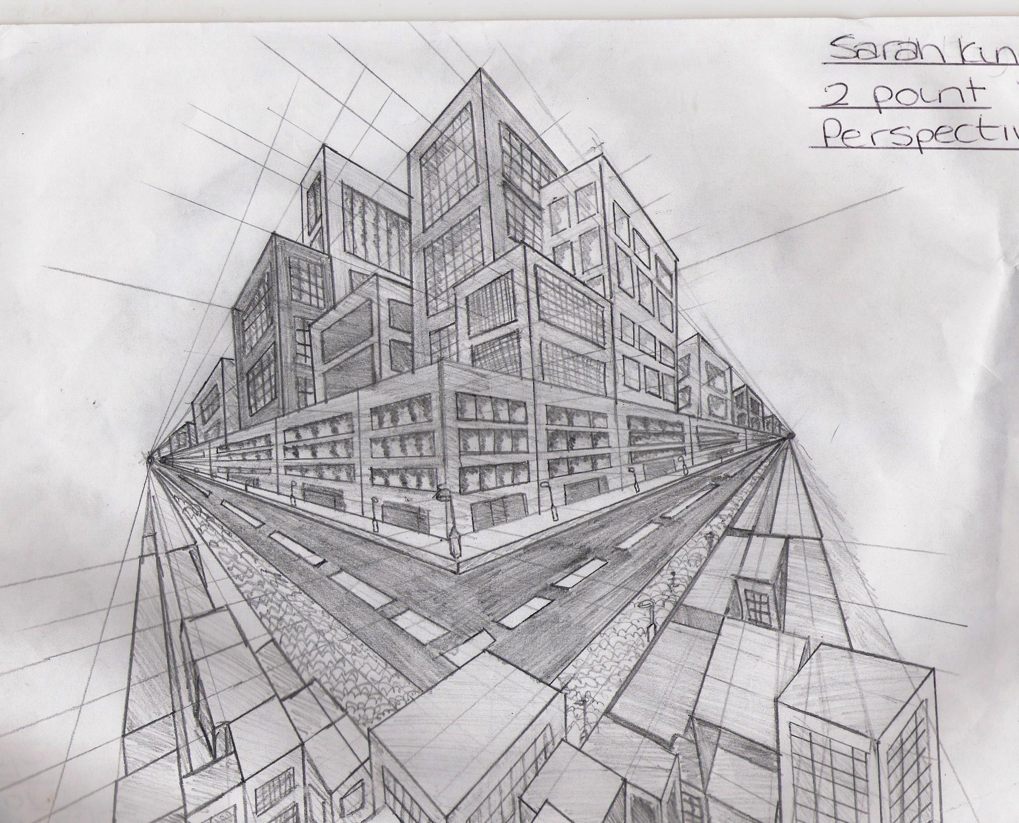 Perspective Drawings Of Buildings building art perspective | point perspective buildings