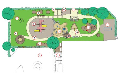 Winnetka Public School Nursery playground, nice design.. .trike ...