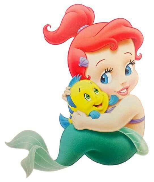 Baby Ariel And Flounder Baby Disney Characters Mermaid Cartoon