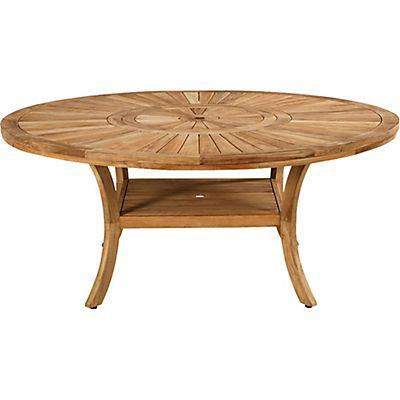 Table de jardin en teck avec plateau tournant (10 à 12 ...